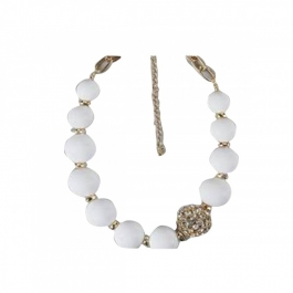 Durga Fashion White Color Elegant Necklace