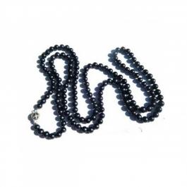Durga Fashion Long Black Beads Necklace