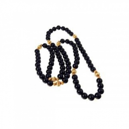 Durga Fashion Black And Golden Necklace