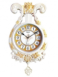Vintage Pendulam Wall Clock Sq-2924d(white)