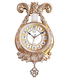 Vintage Pendulam Wall Clock Sq-2924a(golden)