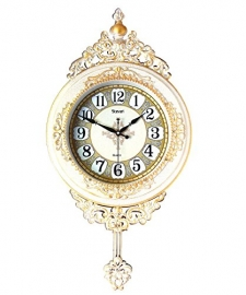 Vintage Pendulam Wall Clock Sq-2922d(ivory)