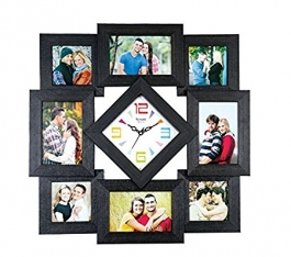 Wall Clock With Wooden Photoframe Sq-2004b(black)