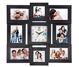 Wall Clock With Wooden Photoframe Sq-2003b(black)