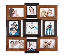 Wall Clock With Wooden Photoframe Sq-2003a(wooden)