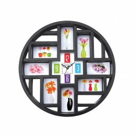 Wall Clock With Photoframe Sq-1819d(black)