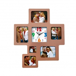 Wall Clock With Photoframe Sq-1685f(wooden)