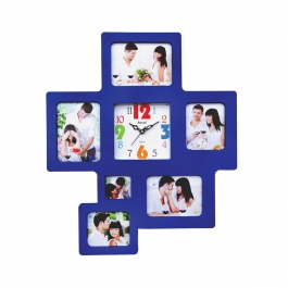Wall Clock With Photoframe Sq-1685c(blue)