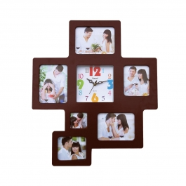 Wall Clock With Photoframe Sq-1685b(cola)