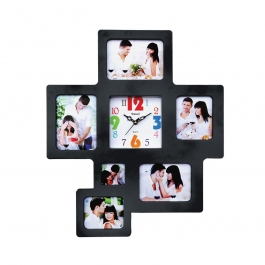 Wall Clock With Photoframe Sq-1685a(black)