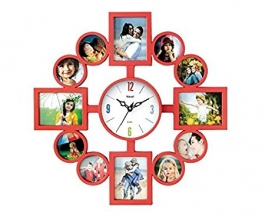 Wall Clock With Photoframe Sq-1682c(red)