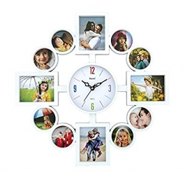 Wall Clock With Photoframe Sq-1682b(white)