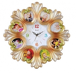 Wall Clock With Photoframe Sq-1626c(golden)