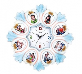 Wall Clock With Photoframe Sq-1626b(white)