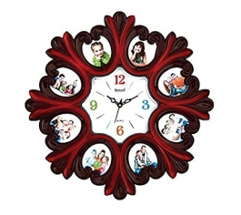 Wall Clock With Photoframe Sq-1626a(brown)