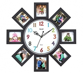 Wall Clock With Photoframe Sq-1625d(black)