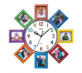 Wall Clock With Photoframe Sq-1625a(multi)