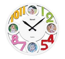Wall Clock With Photoframe Sq-1414a(white)
