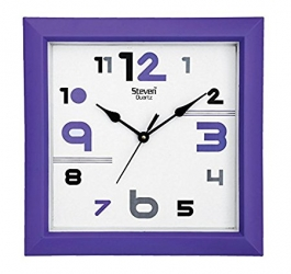 Office Wall Clock Sq-1231e(violet)