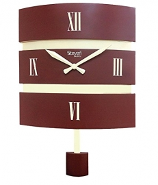 Morden Pendulam Wall Clock Sq-1214d(cola)