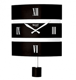 Morden Pendulam Wall Clock Sq-1214b(black)