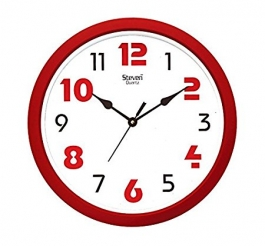 Office Wall Clock Sq-1201e(red)