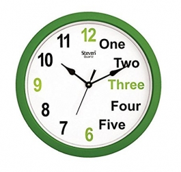 Office Wall Clock Sq-1201c(green)