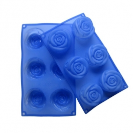 Helping Hand Silicon Rose Cake Mould 6 Cavities