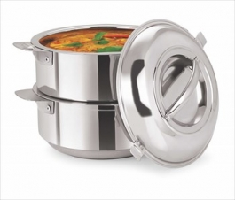 Insulated Stackable Space-saver Serving Pot (1500ml X 2)
