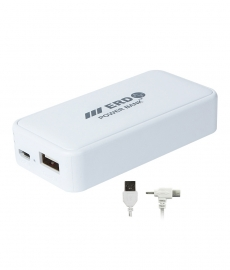 Erd 4400 Mah Portable Charger Power Bank Pb-211- White