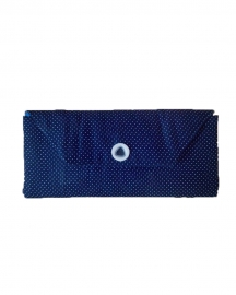 Polka Dot Navy Blue Cotton Wallet