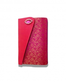 Hot Pink Embroider Designer Clutches