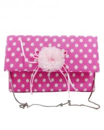 Pink Polka Dot Cotton Sling Bag