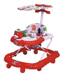 Panda Ducky Baby Walker - Height Adjustable, Musical, Soft Cushion