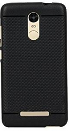 Exclusive Dotted Matte Finish Soft Back Case Cover For Xiaomi Redmi Note 3-black