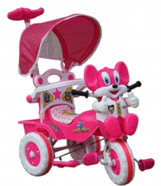 Amardeep Baby Tricycle Pink 1-4 Yrs W/shade And Parental Control