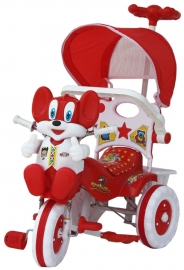 Amardeep Baby Tricycle Red 1-4 Yrs W/shade And Parental Control