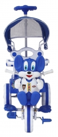 Amardeep Baby Tricycle Blue 1-4 Yrs W/shade And Parental Control