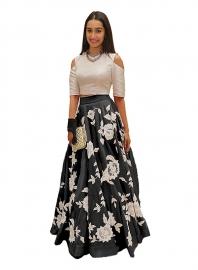 Samarpan Fashion Arohi Black Designer Lehenga