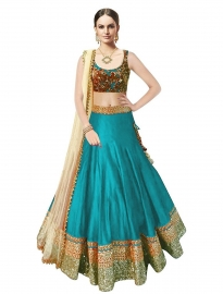 Samarpan Fashion Firozi Color Designer Lehenga