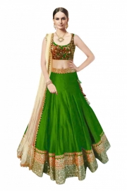 Samarpan Fashion Green  Color Designer Lehenga