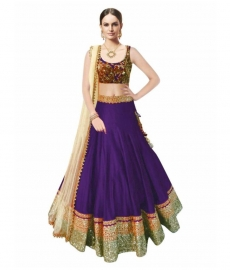 Samarpan Fashion Purple Color Designer Lehenga