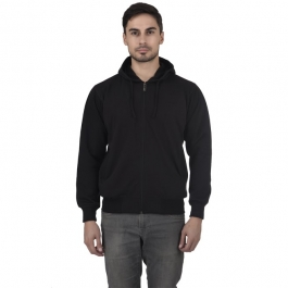 Black Hooded Sweatshirt For Mens