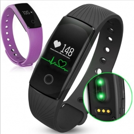 Wenyou Veryfit Heart Rate Monitor Smart Wristband Blue Armband Step Counter Band