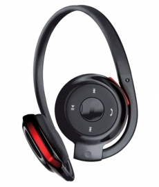 Gio Zone  Bh - 503 Wireless Bluetooth Headphone Black