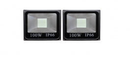 Gi-shop 100w Ip-66 Black Led Flood Light Pack Of 2