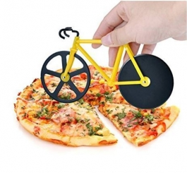 Bicycle Shape Pizza Cutter Extra Sharp Blade Multipurpose Kitchen Use