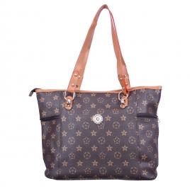 Amazing Brown Multi Pockets Handbag