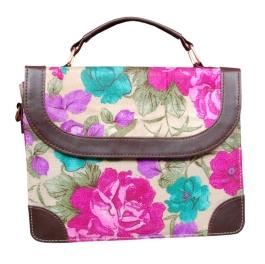Ethnic Silk Handbag For Women/girls