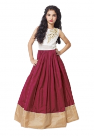 Kids Kitty Red Lehenga